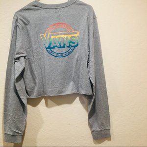 Vans Rainbow Logo Meadow long sleeve crop top XL
